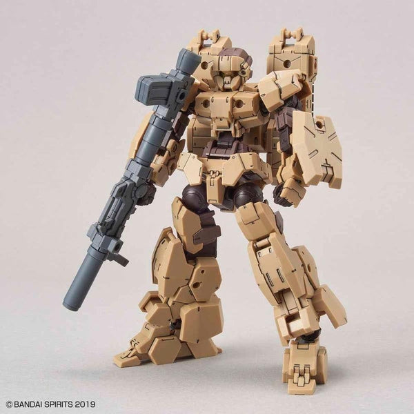 Bandai 1/144 NG 30MM EEXM-17 Alto Ground Type (Brown) front on view with bazooka
