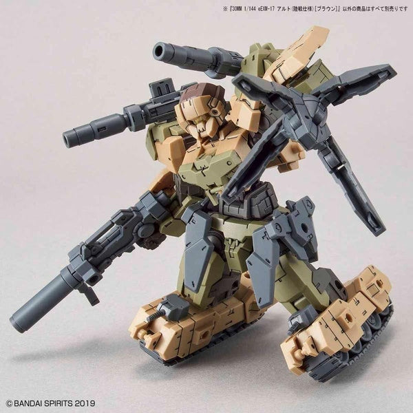 Bandai 1/144 NG 30MM EEXM-17 Alto Ground Type (Brown) fully loaded