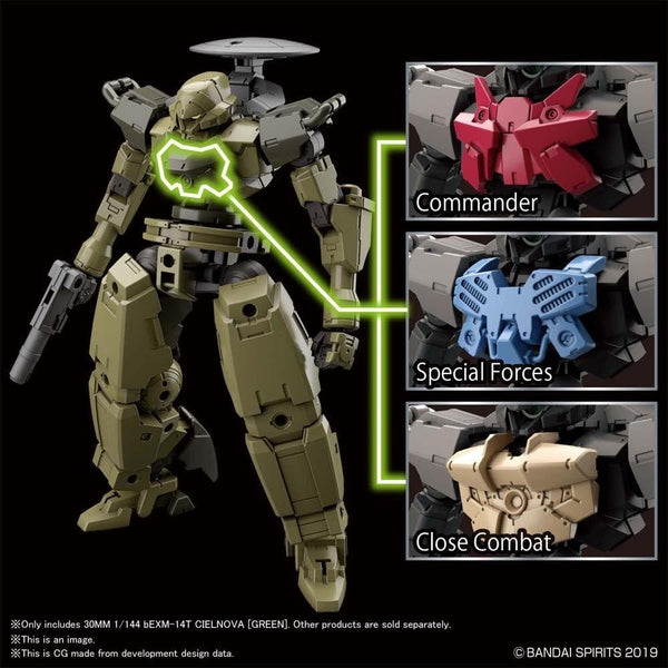 Bandai 1/144 NG 30MM BEXM-14T Cielnova (Green) optional chest armour