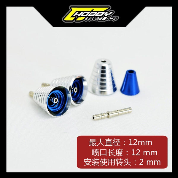 C J Hobby Nozzle Thruster G (Silver/Blue) (2)
