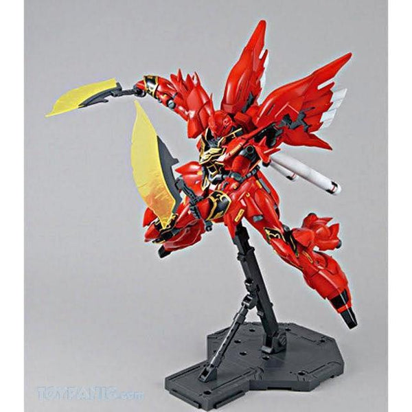 Bandai 1/100 MG MSN-06S Sinanju (ANIME COLOUR VER.) action pose