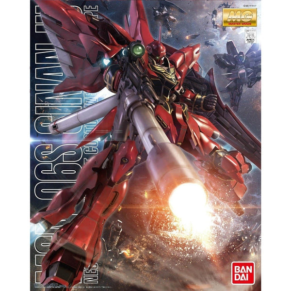 Bandai 1/100 MG MSN-06S Sinanju (ANIME COLOUR VER.) package artwork