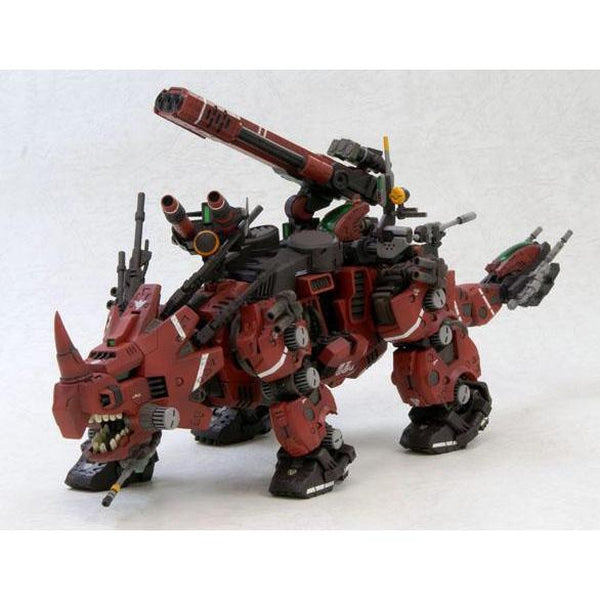 Kotobukiya 1/72 HMM Zoids EZ-004 Red Horn Repackaged Ver. front on view.