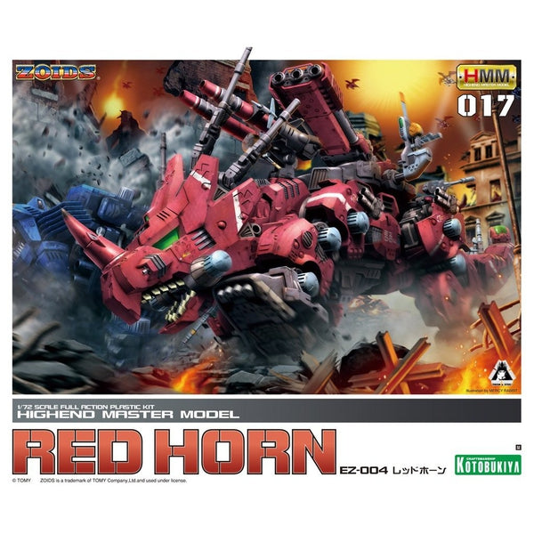 Kotobukiya 1/72 HMM Zoids EZ-004 Red Horn Repackaged Ver. package artwork