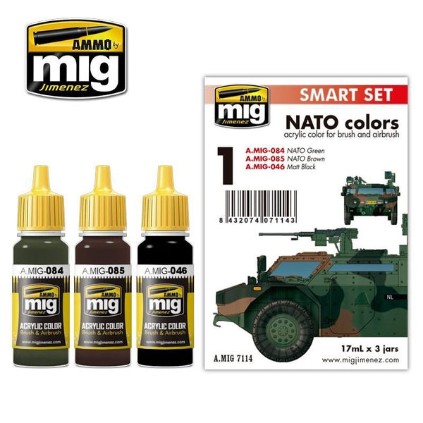 Mig Ammo authentic three-Color NATO set