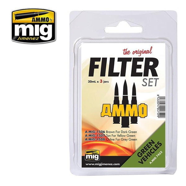 MIG AMMO Filter Set for Green Vehicles