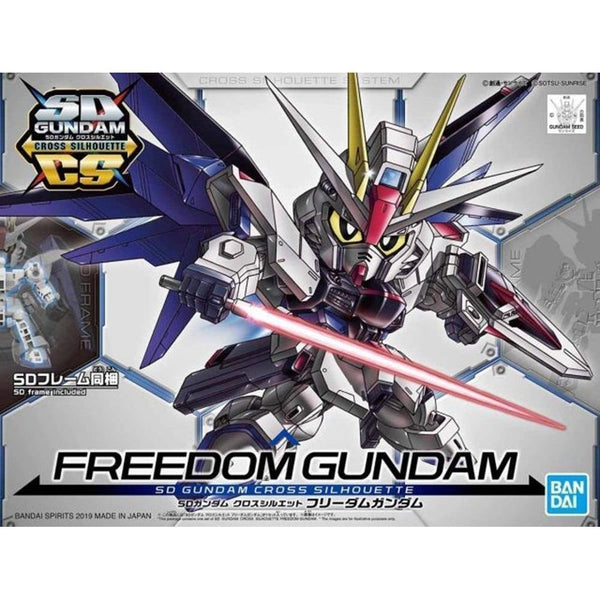 Bandai SD Gundam Cross Silhouette Freedom Gundam package art