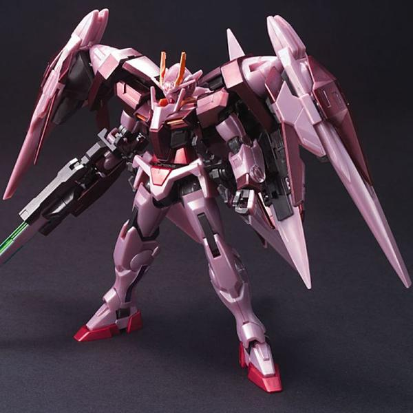 Bandai 1/144 HG Trans-Am Raiser Gloss Injected Front on pose