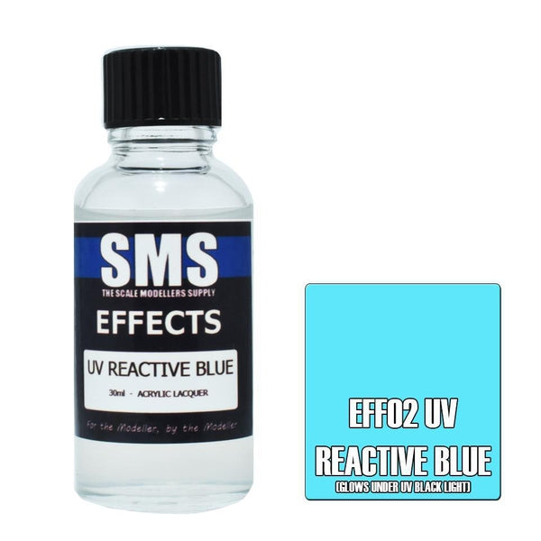 SMS Effects Acrylic Lacquer Series UV Reactive Blue
