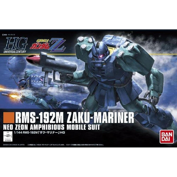 Bandai 1/144 HGUC RMS-192M Zaku Mariner package art