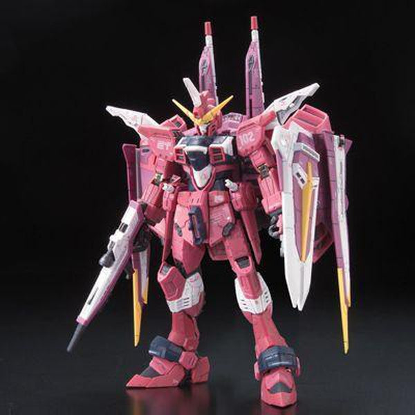 Bandai 1/144 RG Justice Gundam Z.A.F.T. Mobile Suit ZGMF-X09A front view