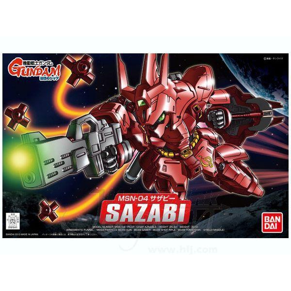 Bandai 1/144 BB382 Sazabi package art