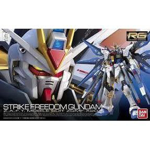 Bandai 1/144 RG Strike Freedom Gundam Z.A.F.T. Mobile Suit ZGMF-X20A package art