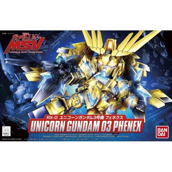 Bandai 1/144 SD BB MSV Unicorn Gundam 03 Phenex RX-0 package art