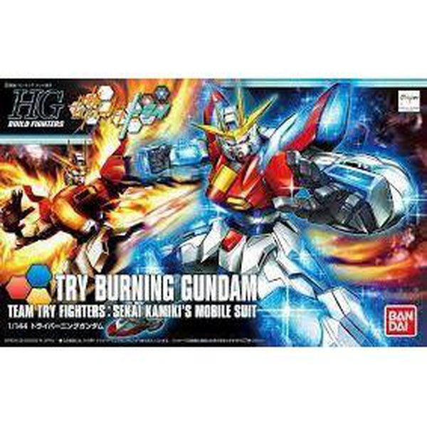 Bandai 1/144 HG BF Try Burning Gundam package art