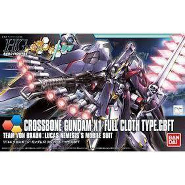 Bandai 1/144 HGBF Crossbone Gundam X1 Full Cloth Type GBFT package art