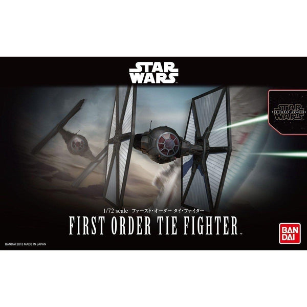 Bandai 1/72 Star Wars The First Order Tie Fighter package art