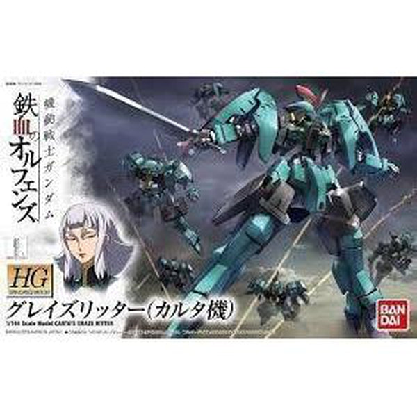 Bandai 1/144 HG IBO Carta's Graze Ritter package art