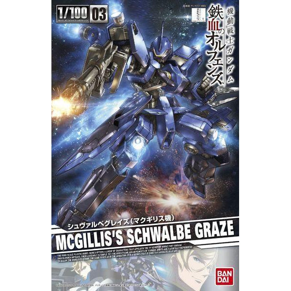 Bandai 1/100 Schwalbe Graze McGillis's Custom package art