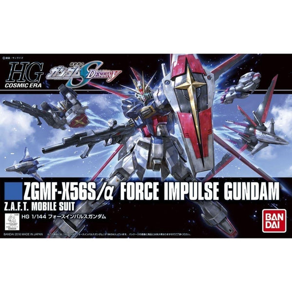 Bandai 1/144 HGCE ZGMF-X56S Force Impulse Gundam F.A.F.T. Mobile Suit package art