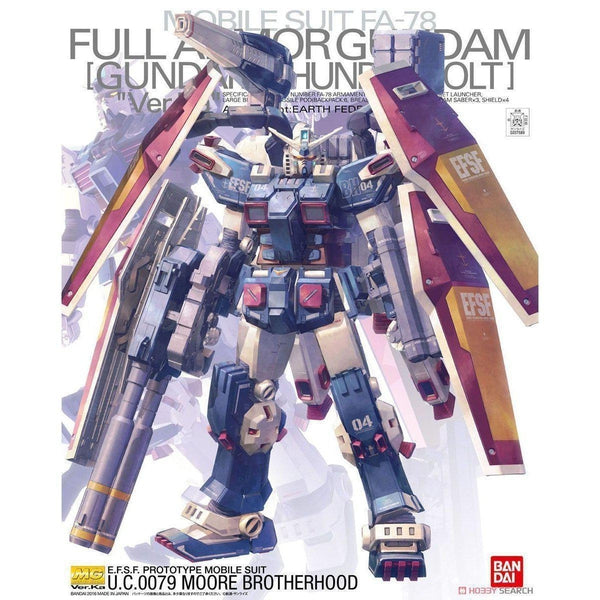 Bandai 1/100 MG Full Armour Gundam Ver Ka. Thunderbolt package art