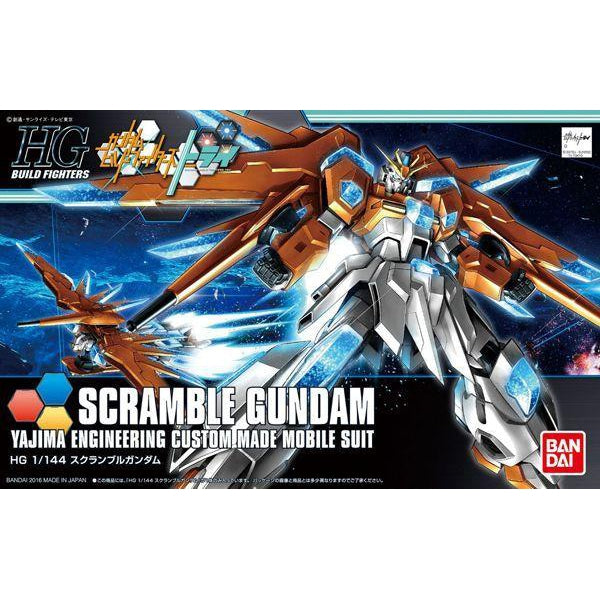 Bandai 1/144 HGBF Scramble Gundam package art