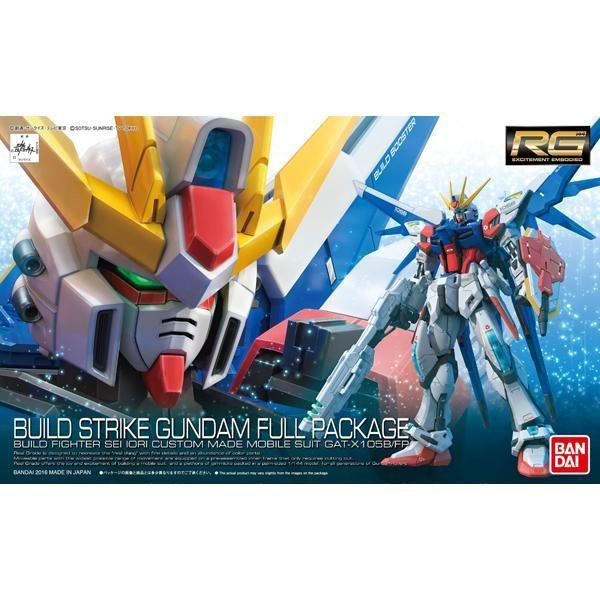 Bandai 1/144 RG Build Strike Gundam Full Package package art