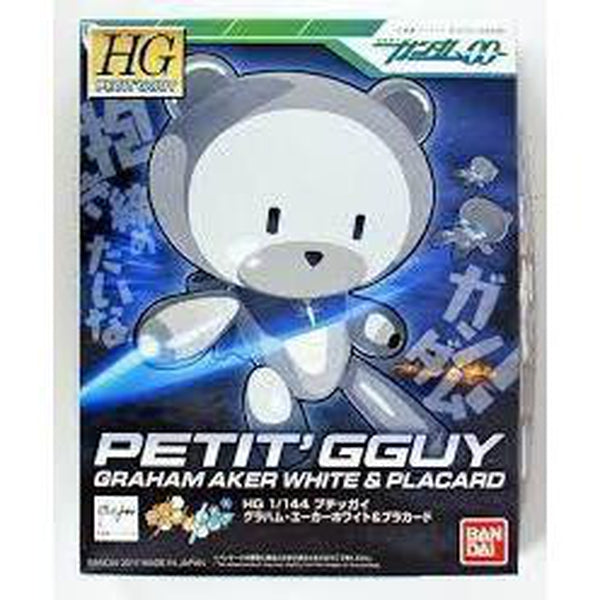 Bandai 1/144 HG Petit'Gguy Graham Aker White package art