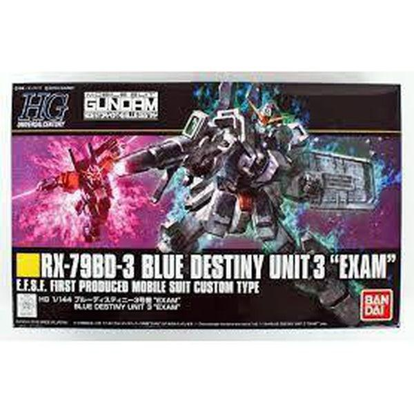 Bandai 1/144 HG Blue Destiny Unit Exam 3 package artwork