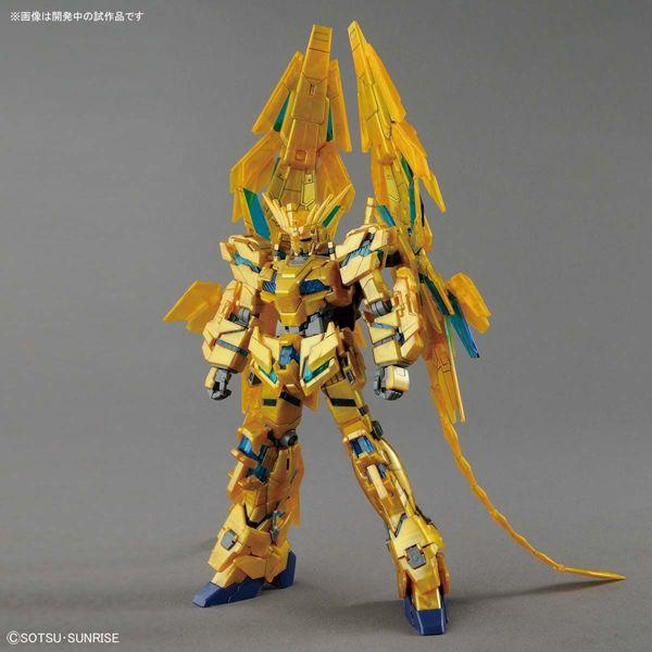 Bandai 1/144 HG Gundam Unicorn Phenex (NT Ver.) front on pose