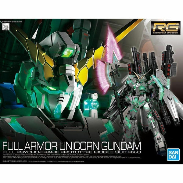 Bandai 1/144 RG Full Armour Unicorn Gundam package art