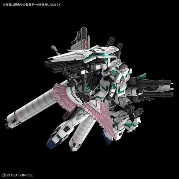 Bandai 1/144 RG Full Armour Unicorn Gundam flight pose