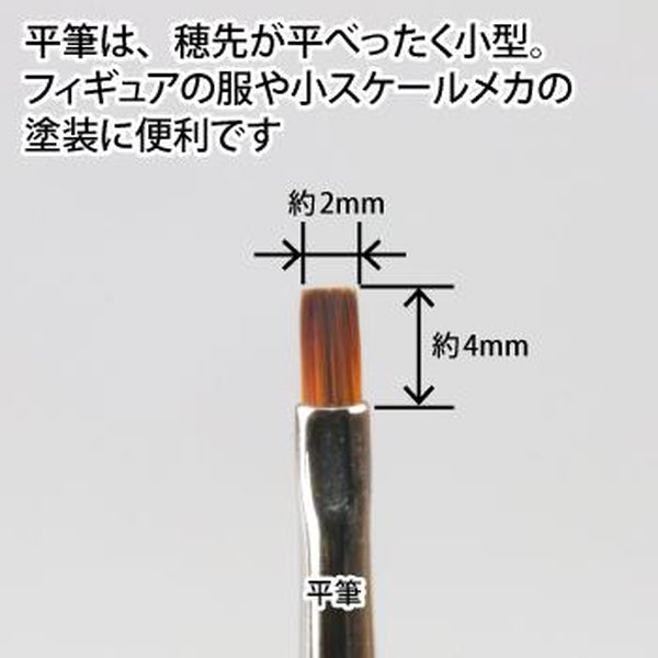 GodHand EBRSP-H Brushwork PRO Flat Synthetic Paint Brush close up of bristles