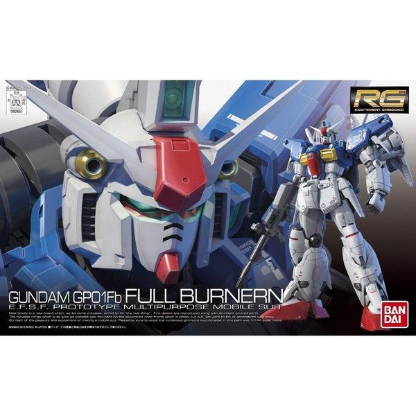 Bandai 1/144 RG RX-78 GP01FB Gundam Full Burnern package art
