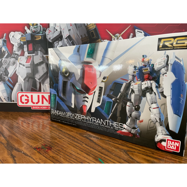 Bandai 1/144 RG RX-78 GP01 Zephyranthes package artwork front cover