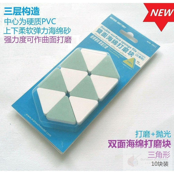 MW Double Sided Sponge File (Triangle 10 pieces)