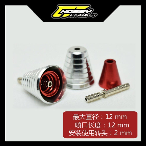 C J Hobby Nozzle Thruster G (Silver/Red) (2)