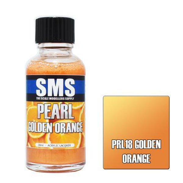 SMS Premium Acrylic Lacquer Series Pearl Golden Orange