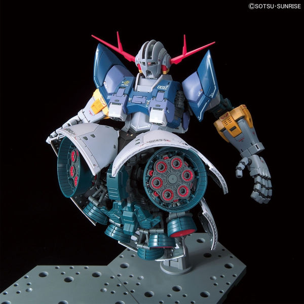 Bandai 1/144 RG MSN-02 Zeong thrusters rotated to the front