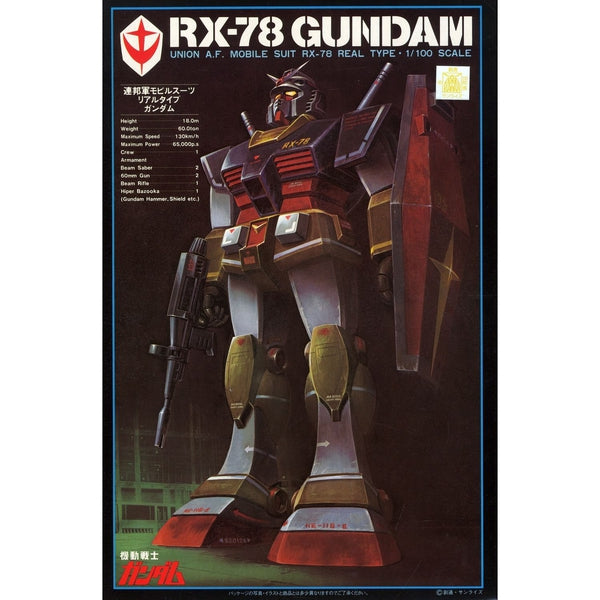 Bandai 1/100 NG RX-78 Gundam [Real Type] package artwork