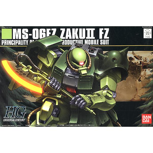 Bandai 1/144 HGUC MS-06FZ Zaku II FZ (Kai) package artwork