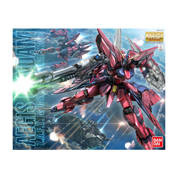 Bandai 1/100 MG Aegis Gundam package artwork