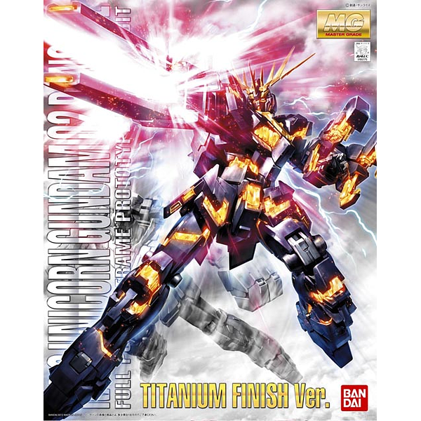 Bandai 1/100 MG RX-0 Unicorn Banshee Titanium package artwork