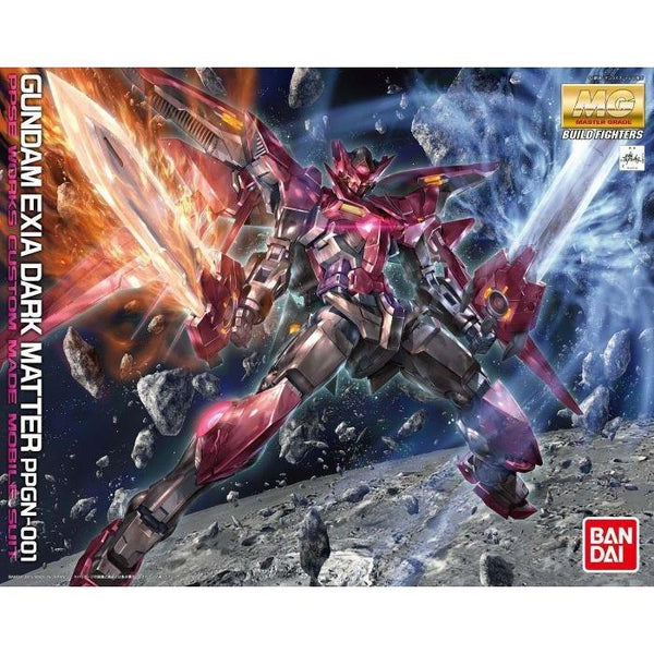 Bandai 1/100 MG Gundam Exia Dark Matter package artwork