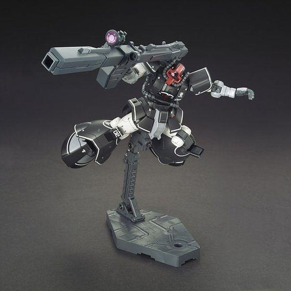 Bandai 1/144 HG YMS-08B Dom Test Type Prototype Mobile Suit action pose with weapon.