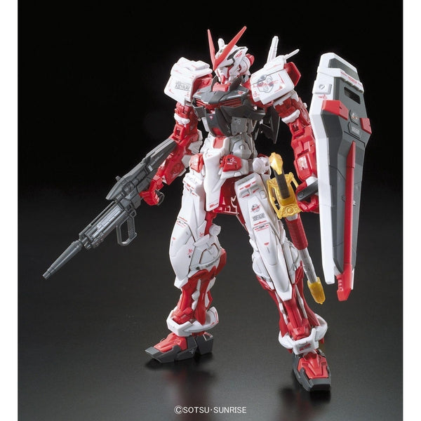 Bandai 1/144 RG Gundam Astray Red Frame Lowe Guele's Use Mobile Suit MBF-P02 front on pose