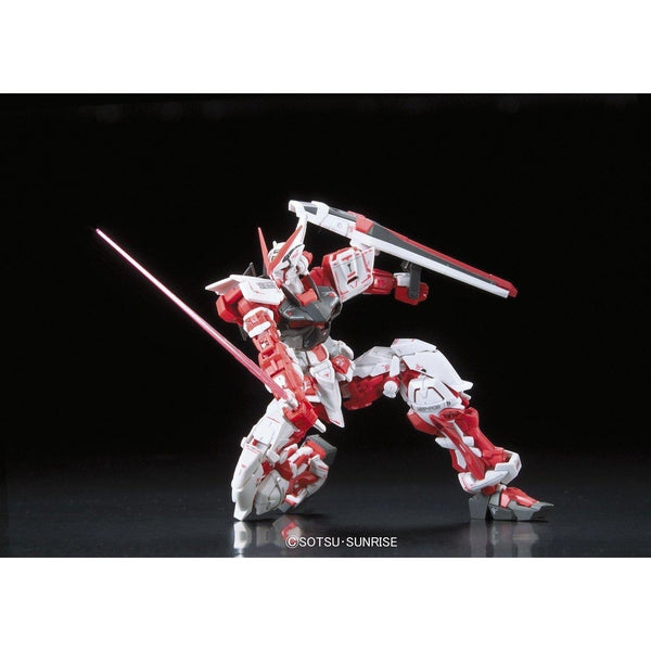 Bandai 1/144 RG Gundam Astray Red Frame Lowe Guele's Use Mobile Suit MBF-P02 action pose on one knee
