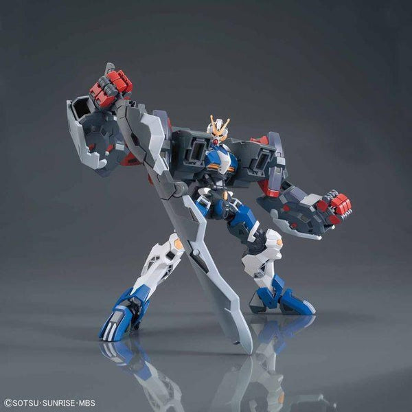 Bandai 1/144 HGIBO Dantalion action pose with weapon.