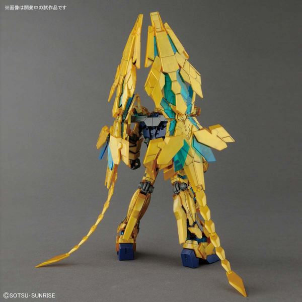 Bandai 1/144 HG Gundam Unicorn Phenex (NT Ver.) rear view pose