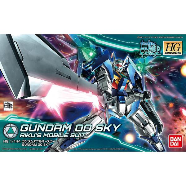 Bandai 1/144 HGBD Gundam 00 Sky package artwork